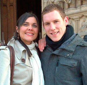 Remembered: John McAreavey with his late wife Michaela Harte