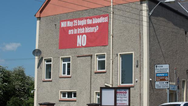 A poster for the No campaign in Buncrana