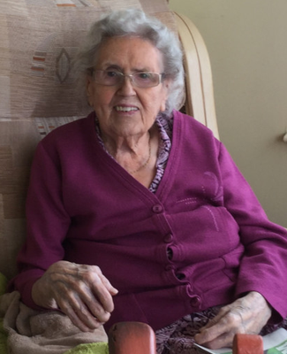 Ethel at her care home