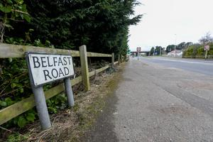 The Belfast Road in Bangor where a man died in a road crash