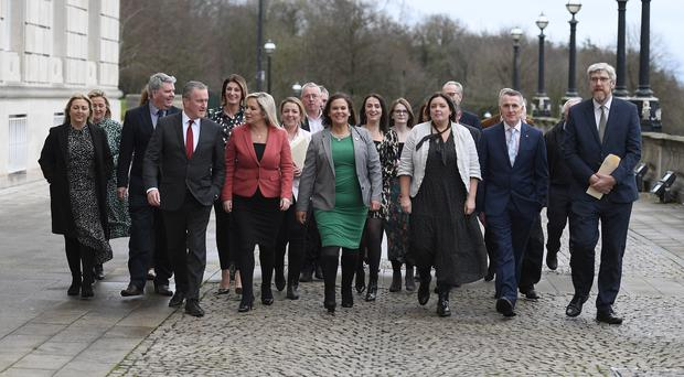 The powersharing assembly in Northern Ireland is restored (Michael Cooper/PA)