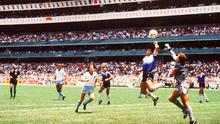 Diego Maradona's infamous goal against England in the quarter-final of the same competition
