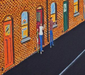 Belfast artist Foss' 'Clap for Carers' painting