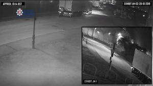 CCTV image of Maurice Robinson standing by the trailer doors as he discovered the bodies of 39 migrants (Essex Police/PA)