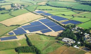 A solar farm not too dissimilar to the one which has just been approved for Antrim