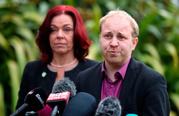 Green Party's Clare Bailey and Steven Agnew