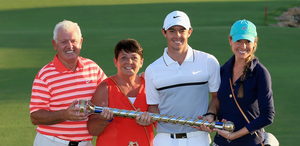 Rory McIlroy with his wife Erica Stoll and Rory's parents Gerry and Rosie