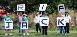 Republic of Ireland fans gather at Walkinstown Roundabout in Dublin