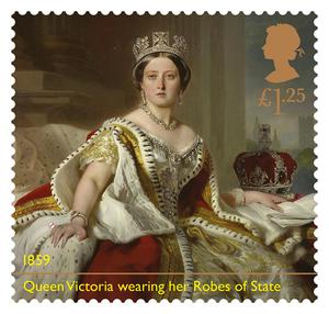 Queen Victoria features on the stamps