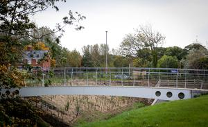 The cleaned up Hollow and bridges in east Belfast