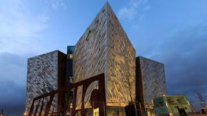 There was a hike in visitor numbers to Titanic Belfast due to the location featuring during the start of the 2014 Giro d'Italia