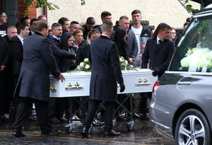 The funeral of Warren Crossan