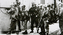 Soldiers on the streets on Bloody Sunday