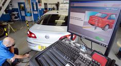 MOT tests for cars and light vehicles in Northern Ireland have been suspended over faults in lift equipment at test centres (PA)