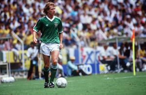 Jimmy Nicholl in action during 1986 World Cup