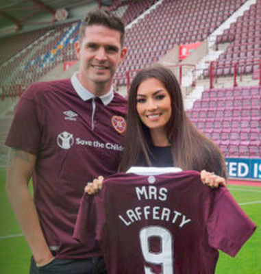 Kyle Lafferty and wife Vanessa mark his arrival at Hearts