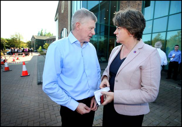 Arlene Foster and Tony Lunney