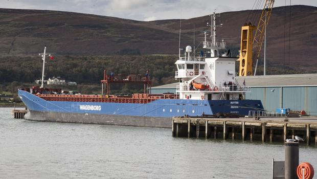 Dutch cargo ship Ruyter is currently docked in Warrenpoint Harbour