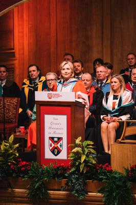 Clinton received an honorary degree from Queen's in 2018