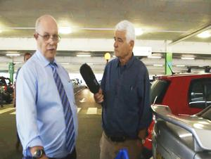 Michael Patrick Reilly with reporter John Ware