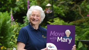 Lady Mary Peters has launched exercise videos for older people (Age NI/PA)