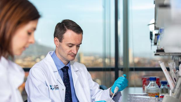 Dr Richard Turkington is part of a £300,000 charity-funded three-year programme with Queen's University Belfast (Christopher Heaney/Cancer Focus NI/PA)