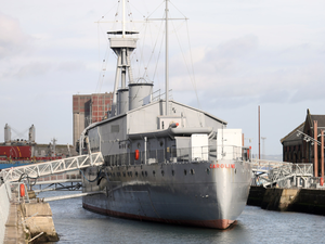 Museum: HMS Caroline is berthed at Belfast's Titanic Quarter