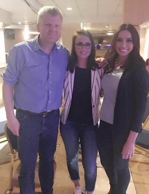 Lisa with Adrian Chiles and Christine Bleakley who were at her show