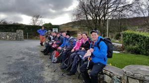 James Gilpin (right) on the Mourne Wall walk
