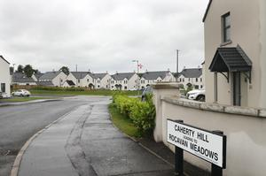 The assault took place at a house in the Rocavan Meadows area of Broughshane