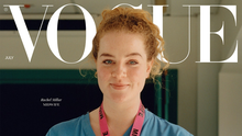 Midwife Rachel Millar featuring on the cover of Vogue magazine