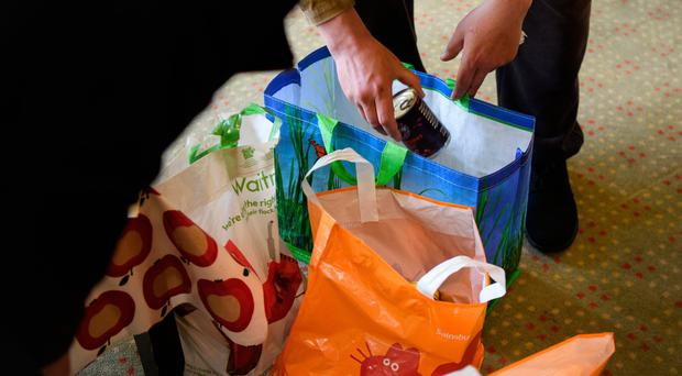 The number of people using food banks has risen by over 13% as more families struggle with the cost of living