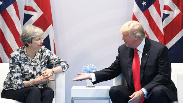 Theresa May is understood to have asked Donald Trump to broker a deal between the two sides