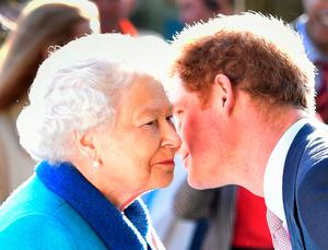 The Queen with grandson Harry