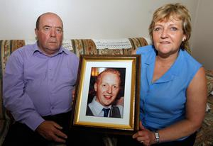Colin and Eithne Bell, whose son Kevin was killed in a hit and run accident in America two years ago