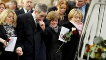 Connor's funeral in January 2005