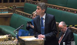 Mr Weir was accused of not making decisions until England's Education Secretary Gavin Williamson, pictured, had made his (House of Commons/PA)