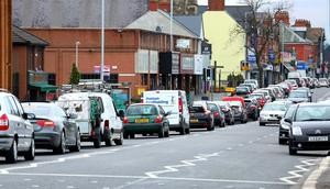 The roadworks at Mersey Street which are causing chaos on Newtownards Road