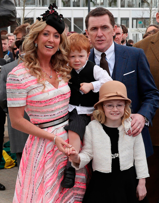 Chanelle and Tony McCoy with their children Eve and Archie