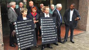 Members of the Birmingham pub bombings campaign group Justice4the21