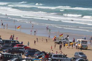 Portstewart Strand filled with cars yesterday