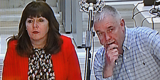 Donna Maguire and Leonard Hardy in court