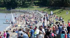 Crowds at Helen's Bay