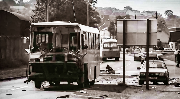 the Bus Arlene foster was travelling on when an IRA bomb detonated
