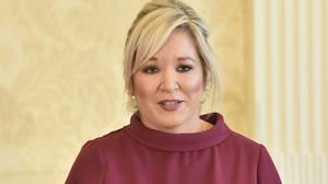 Stormont deputy first minister Michelle O'Neill has broken down in tears at the plight of a cancer patient reportedly told her treatment will probably be stopped due to pressure caused by Covid-19 (Colm Lenaghan/handout/PA)