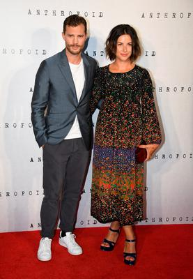 Jamie Dornan and wife Amelia Warner attend the Anthropoid UK film premiere at the BFI Southbank