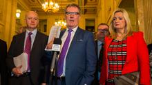 UUP leader Mike Nesbitt and party colleagues at Stormont last month