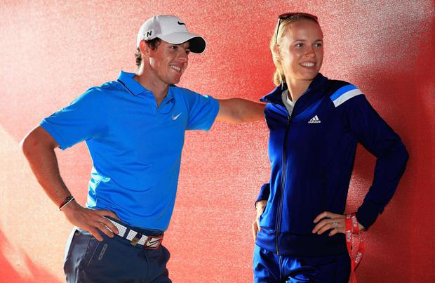 Caroline Wozniacki with Rory McIlroy when the two were a couple.