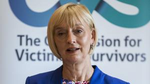 Victims Commissioner Judith Thompson launches the Commission for Victims and Survivors, Pension Arrangement (Vaspa) Advice Paper (May 2019), at the Long Gallery in Stormont's Parliament Buildings (Liam McBurney/PA)