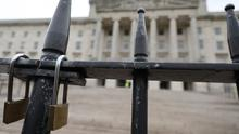 Locked gates at Stormont (Niall Carson/PA)
